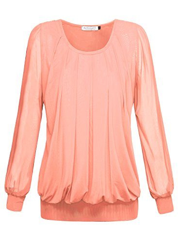 BAISHENGGT Womens Pleated Front Blouse product image