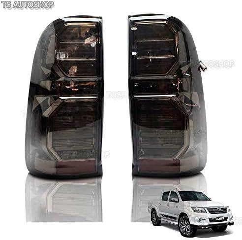 Powerwarauto スモーク ブラック LED テールライト ランプ トヨタ ハイラックス Vigo SR5 MK6 Champ Mk7 4WD 2WD UTE ピックアップ 2005 2006 2007 2008 2010 2012 2013用