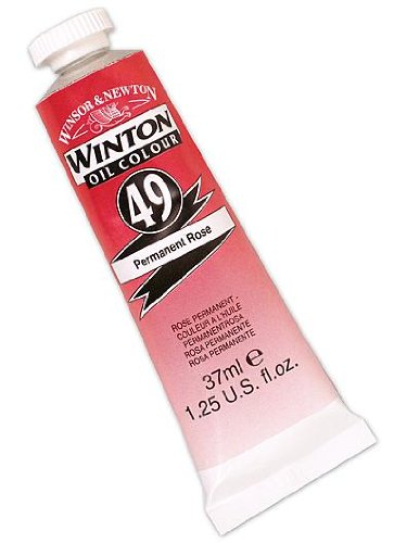 Winsor & Newton Winton Oil Colours 37 ml permanent rose 49 [PACK OF 3 ]