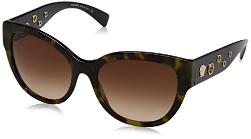 Versace Women's VE4314 Sunglasses Avana Military / Brown Gradient - Versace Sunglasses 2017