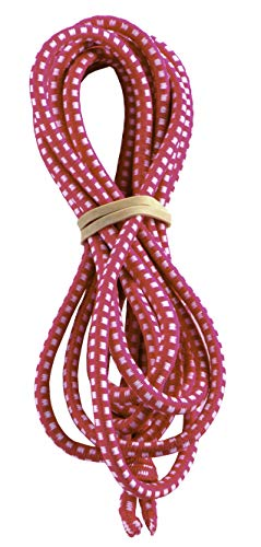 Chinese Jump Rope for Kids - Elastic Fitness Game - Knotted Loop - by B&D Supply (Pink, 8 Foot (Single))