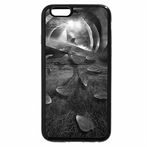 iPhone 6S Case, iPhone 6 Case (Black & White) - Rose Sunset