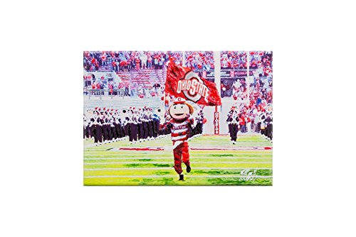 Glory Haus 41071921 Ohio State Brutus Canvas, Multicolor