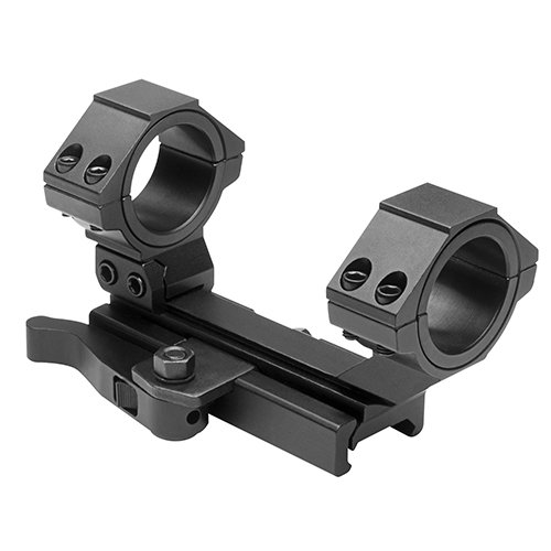 NcStar AR15 QR Weaver Mount/Cantilever Scope Mount Rear Ring/30mm and 1-Inch Inserts (MARCQ), (Release Lever Guide)