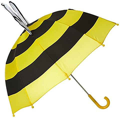 Kidorable Yellow Bee Umbrella With Fun Pop-Out Wings, Big Smile, Antennae, One Size