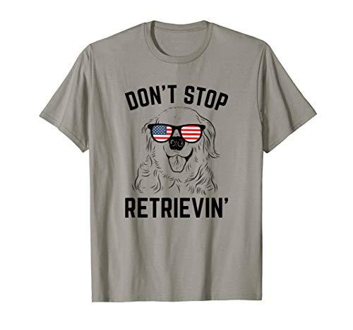 Golden Retriever USA Flag Sunglasses Funny Inpired T-Shirt
