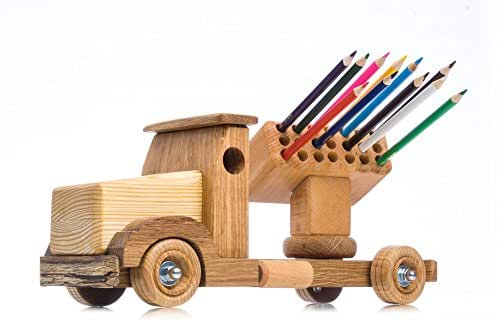 Amazon.com: Wood truck with rocket launcher - Organic toy ...