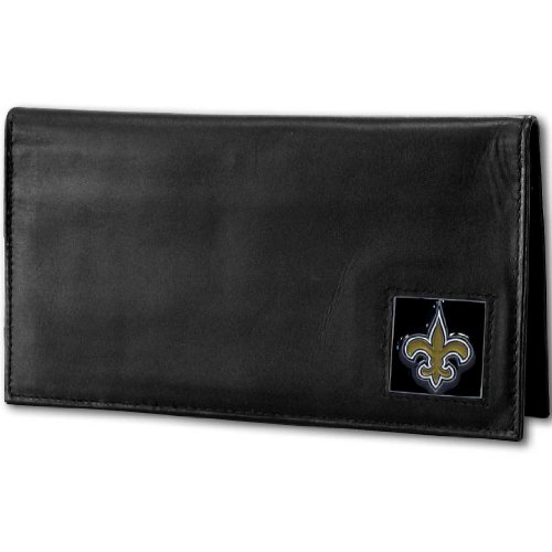NFL New Orleans Saints Deluxe Leather Checkbook -