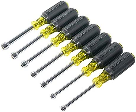 クラインツール65160メトリッククッショングリップナットドライバーセットwith 3-inch Shanks (7ピース)