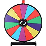 """WinSpin 24"""" Tabletop Spinning Prize Wheel 14 Slots with Color Dry Erase Trade Show Fortune Spin Game"""
