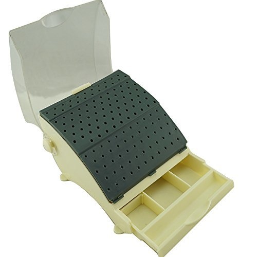Finlon Dental Plastic Bur Holder Burs Block Case Box 142 Holes