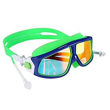 5c25e146d38a1 Spinosaurus Kids Swim Goggles Swimming Goggles(Age 3-15 Years), Fashionable,  Anti-Fog,UV Protection, No Leaking, Coated Lens,with case and earplugs, HD  Swim ...