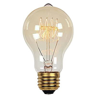 0 40 Watt A19 Clear Timeless Vintage Inspired Bulb with Medium Base