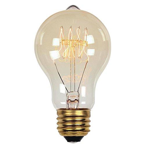 0413500 60 Watt A19 Clear Timeless Vintage Inspired Bulb with Medium Base
