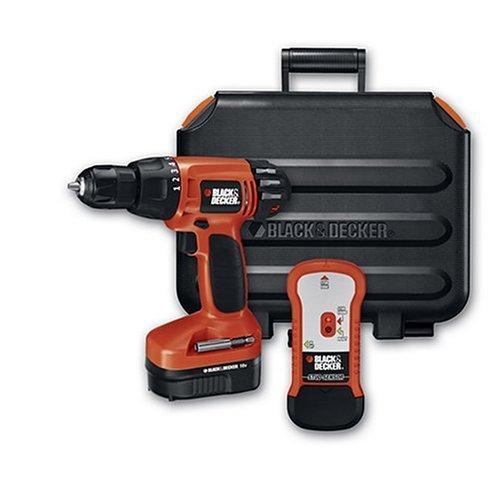 - Black & Decker CD18SFRK 18-Volt 1/2-Inch Cordless Drill/Driver Kit with Stud Finder