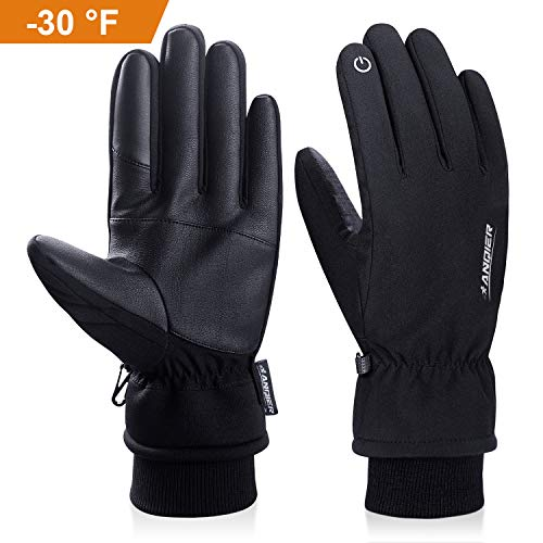 - anqier Winter Gloves,-30℉(-34℃) Cold Proof Thermal 3M Thinsulate Warm Touchscreen Cold Weather Gloves Men Women for Smartphone Texting Cycling Riding Running Skiing Outdoor Sports(Medium)