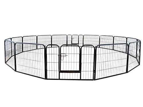 Petpremium Dog Pen Metal Fence Gate Portable Outdoor Rv