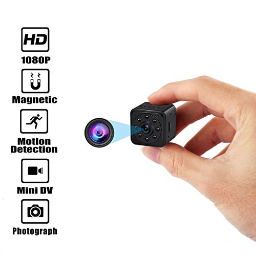 Hidden Camera Mini Spy Cameras HD 1080P 140 Degree Wide Angle Portable Security Nanny Cam with Motion Detection Video Camera Night Vision (Supports 128G SD Cards) Camera Support System