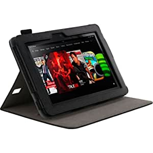 "Roocase RC-FIRE-HD8.9-DV-BK funda para tablet - fundas para tablets (Libro, Negro, Cuero, Amazon, Amazon Kindle Fire HD 8.9"", Resistente a rayones)"