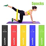 Letsfit Resistance Loop Bands, Workout Exercise Resistance Bands for Legs Butt Glutes Workout, Pilates, Yoga, Rehab, Physical Therapy with Carry Bag, eBook, and Online Videos