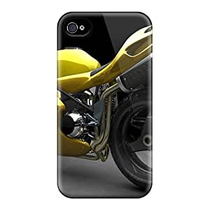 Ifans Perfect Tpu Case For Iphone 4/4s/ Anti-scratch Protector Case (yellow Monster)