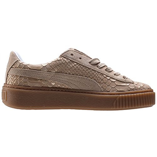 Mujer Platform natural Skin Puma Zapatillas Vachetta vachetta Basket Natural gold Exotic HZnOUSn