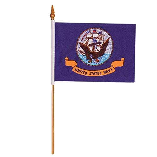 Fox Outdoor 84-635 4 x 6 in. Navy Flag On Stick