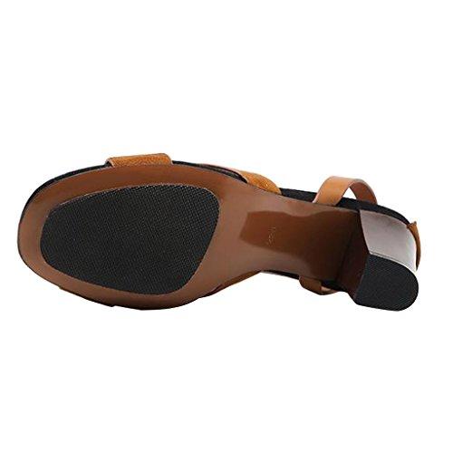 Sandali Con Tacco Alto Da Donna Cinturino Alla Caviglia Dal Caro Tempo Marrone