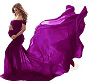 Tommer Women Off Shoulder Maternity Dress Photography Maxi Bridal Gowns Wedding Dress