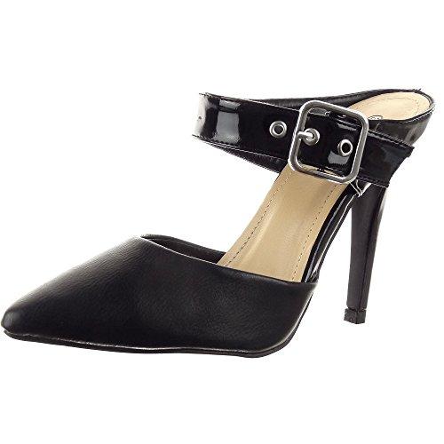 Sopily - damen Mode Schuhe Pumpe Stiletto Offen Sexy String Tanga - Schwarz
