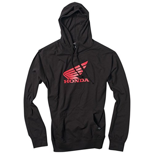 Hoody Honda Sweatshirt (Factory Effex Hoody - Honda Wing Pullover - Black (Large))