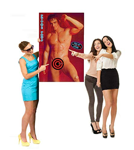 Bachelorette Party Pin it on the Hunk Fun Game  Party Decoration Scissors Required