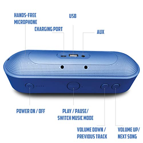 2BOOM Pill Speaker Portable Wireless Bluetooth with HD Audio, Loud