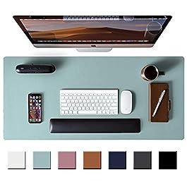 Leather Desk Pad Protector,Mouse Pad,Office Desk Mat, Non-Slip PU Leather Desk Blotter,Laptop Desk Pad,Waterproof Desk…
