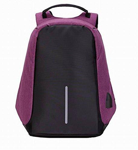 Décontractée Dacron Daypack Femme AalarDom Zippers dos Mode Violet Sacs à C7Hccqw
