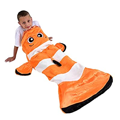 Snuggie Tails Clown Fish Comfy, Cozy, Super Soft, Warm, All Season, Wearable Blanket for Kids, As Seen on TV: Home & Kitchen