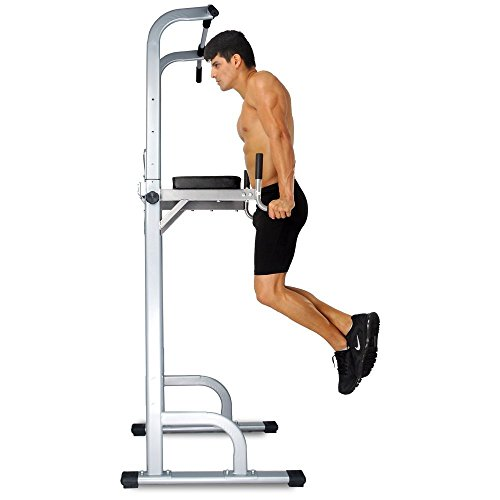 Crystal Power Tower Capacity 550 Lbs Pull Up Bar Tower Dip Stands Fitness Gym Office by crystal fit