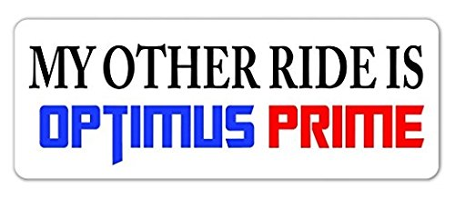 - 3 Pack - My Other Ride is Optimus Prime Vinyl Decal Bumper Sticker