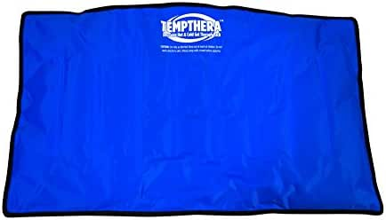 Tempthera Reusable Hot and Cold Gel Packs for Therapy, Wrap for Pain Relief (Back, Shoulder, Neck, Arm, Leg) - 22 x 13 Inch (Large Size) - 1 Count - Blue