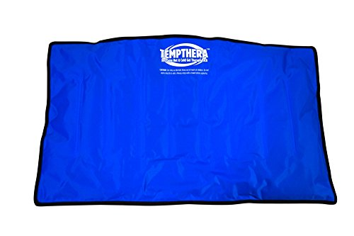 (Reusable Hot and Cold Therapy Wrap Pack - Large Size (22'' x 13'') - Reusable Gel Pad for Pain Relief and Injuries of Back, Hip, Shoulder, Waist, Neck, Arm, Leg - By Tempthera)