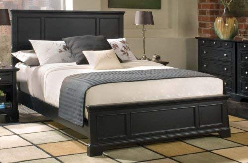 Home Styles Bedford Black King Bed is Constructed of Hardwoods and Engineered Wood