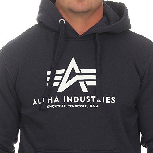 Alpha Basic Industries Alpha Navy Hoody Basic Industries Hoody Navy Alpha Industries OzfwqxzU