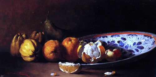 (Art Oyster Germain Clement Ribot Nature Morte Aux Fruits - 15.1