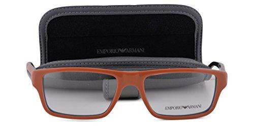Emporio Armani EA 3013 Eyeglasses 52-16-140 Brick Red On Gray 5106 - Sale On Armani
