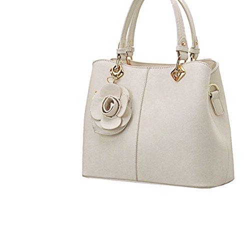 Yy.f Nueva Bolsa De La Mujer Las Nuevas Señoras De La Manera Bolsas Bolsas De Flores Bolso De Las Señoras De La Moda Multicolor White