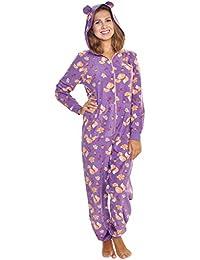 690251f50d Women s   Kid s Fleece Novelty One-Piece Hooded Pajamas
