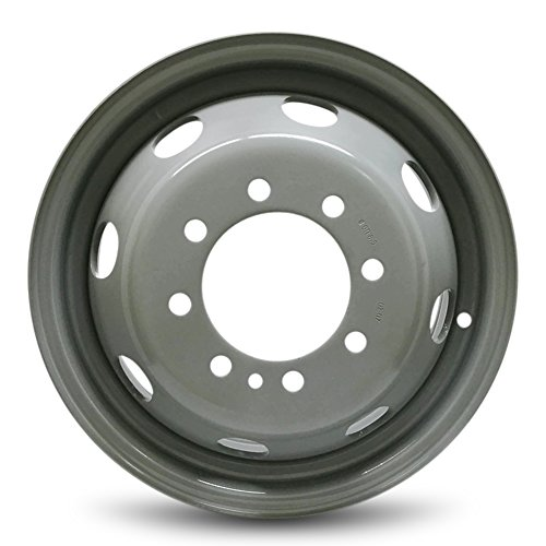 (Road Ready Car Wheel For 1992-2007 Ford E350 1996-2003 Ford E450SD 16 Inch 8 Lug gray Steel Rim Fits R16 Tire - Exact OEM Replacement - Full-Size)