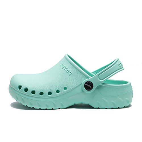 fereshte Unisex Holes Garden Shoes Heathcare Nursing Slippers Classic Clogs Shallow Green