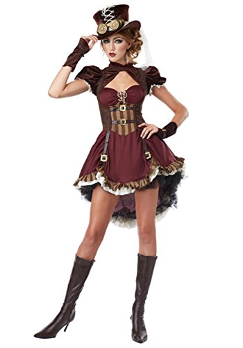 Plus Size Steampunk Lady Costume 2X