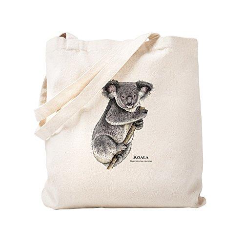 CafePress Koala Natural Canvas Tote Bag, Cloth Shopping Bag
